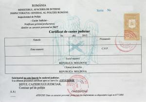 certificat cazier  judiciar