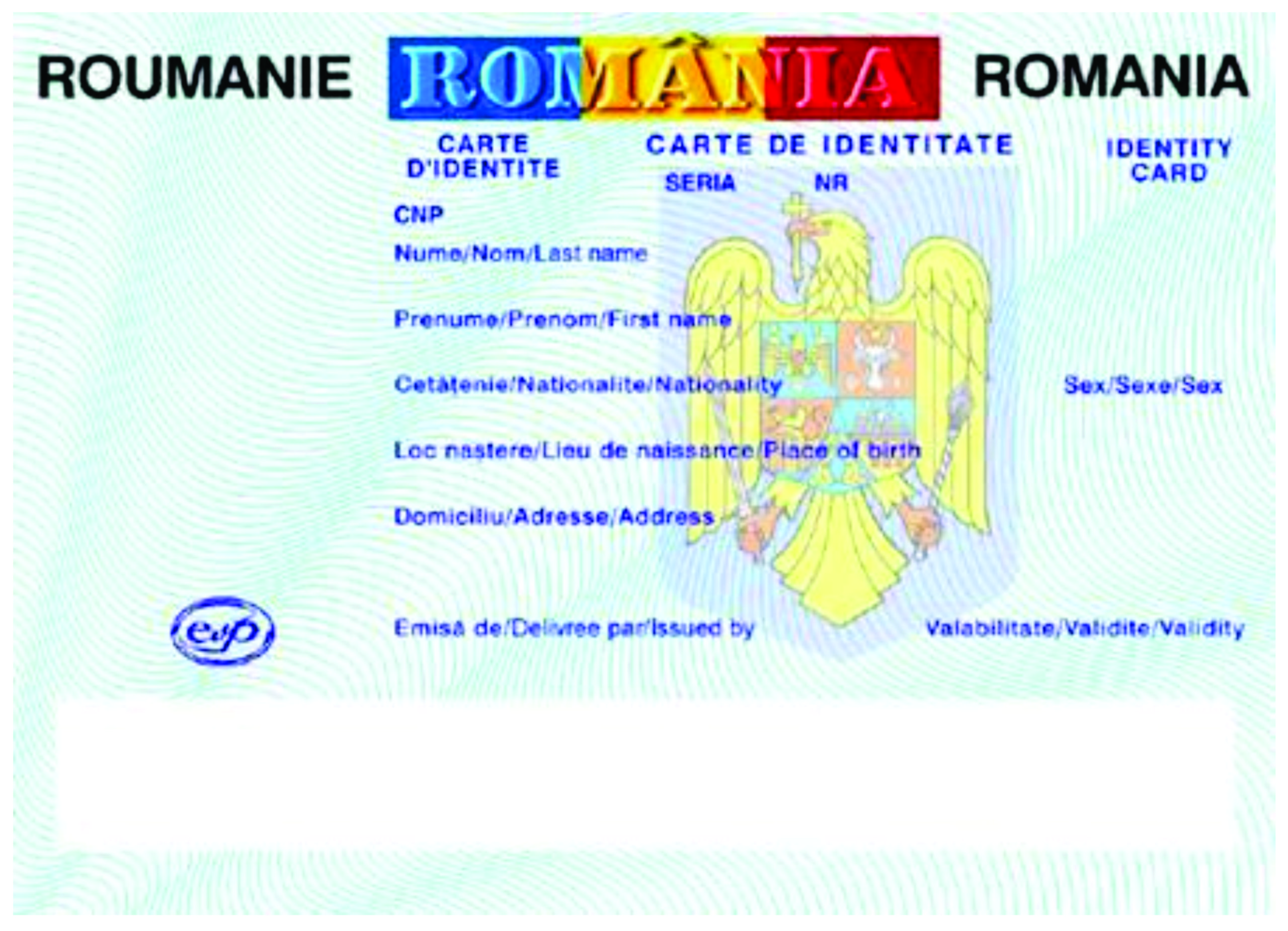 Carte de Identitate (CI) Romania
